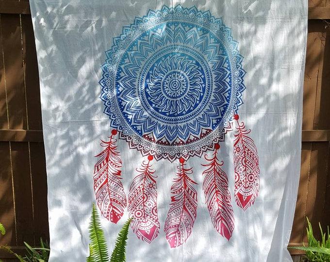 Mandala Dreamcatcher Tapestry Boho Hippie Tapestry Wall Hanging Beach Blanket Yoga Mat Meditation Mat Dorm Decor Music Festival Tapestry