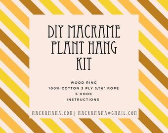 DIY Macrame Plant Hang Kit, Modern Macrame, Plant Hanger, Macrame for beginners