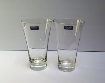 Waterford Marquis 2 Tall Beer Glasses Pilsners