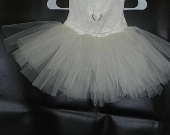 Tulle & Lace Brides Maid Wedding Party PRINCESS Gown Harness Dress. Perfect Item for your Cat, Dog or Ferret. Can Be Made in Other Colors!