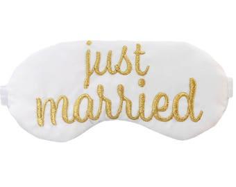 Just Married Sleep Eye Mask Honeymoon Newlywed Gifts