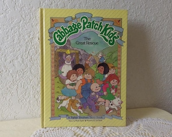 Cabbage Patch Kids, The Great Rescue -Children's Book,  Pictures by Jan Brett, 1st Edition, 1984, Like New.