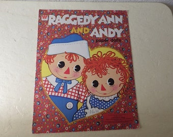 Raggedy Ann and Andy Paper Dolls, Cut. 1978