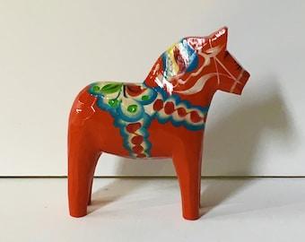 Vintage Dala Horse Grannas A. Olssons Red