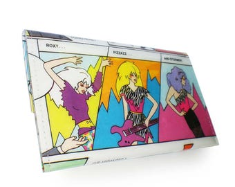 The Misfits Purse -Jem and The Holograms - Recycled Book Page in Vinyl