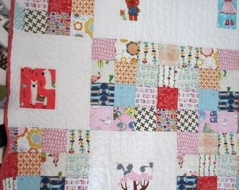 A Patchwork Baby Quilt......Ready to Ship