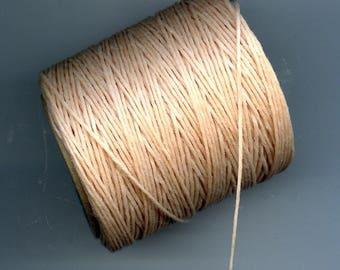 Natural  Waxed Cord Thread 5 yards