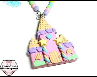 Pastel Candy Castle Necklace, Princess, Hime, Hime-Kei, Fairy-Kei, Original Design