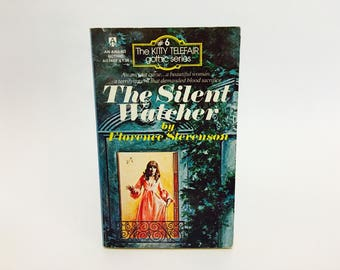Vintage Gothic Romance Book The Silent Watcher by Florence Stevenson 1975 Paperback