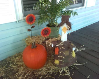 GOOSE CLOTHING -- Scarecrow for you lawn goose - Brown - Plastic or Concrete Lawn Goose Clothing - Geese clothes