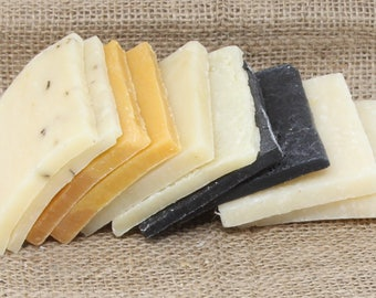 Variety, Soap Ends Sampler, Homemade Soap, Handmade Soap, Natural Soap, Soap Box, Rustic soaps, essential oil soap sample