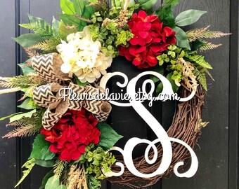 New! Spring Door Wreaths, Summer Wreaths for Front Door, Spring Wreath, Year Round Wreath, Front Door Wreaths, Home Decor, Farm House Wreath