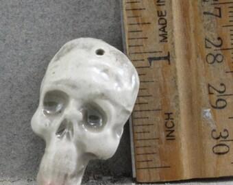 Handmade Raku Skull