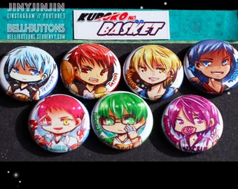 Kuroko no Basket Button set (7)