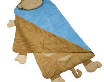 Personalized Stephen Joseph Nap Mat MONKEY Nap Mat TODDLER PRESCHOOL Boys Nap Mat