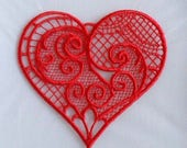 Special order: 3 x red lace heart