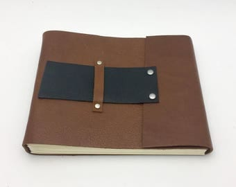 CLEARANCE - Medium Brown Leather Art Journal / Photo Album