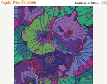 SALE 10% Off - Lotus Leaf in Purple  pwgp029 - Kaffe Fassett Collective for Westminster Fabrics - By the Yard