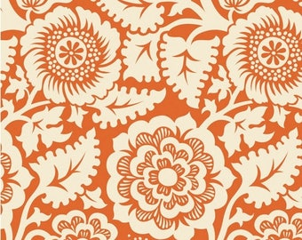 SALE 10% Off - Blockprint Blockade Blossom in Amber (JD48) - HEIRLOOM - Joel Dewberry - Free Spirit Fabric - By the Yard