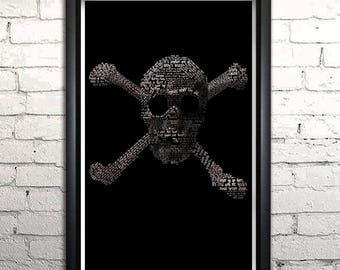 "Goonies word art print - 11x17"" Framed"