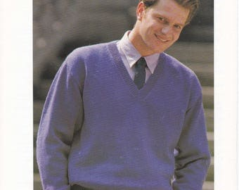 Mens jumper knitting pattern chunky