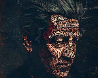 David Lynch Typographic portrait