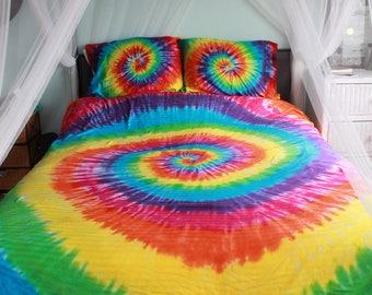 Tie dye King Duvet/comforter cover Upcycled