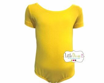Yellow Leotard-Ballet Short Sleeve Leotard (Children's)