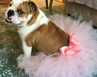Super Fluffy Custom Dog tutu choose your colors SEWN Small to Large