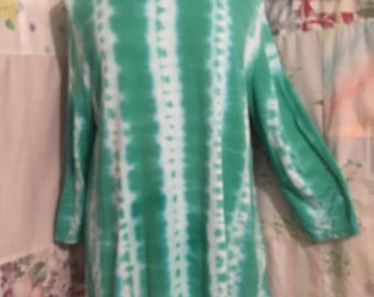 LARGE, Top, Hippie Flowerchild Boho Cotton Bohemian Tie Dye Lightweight Long Top