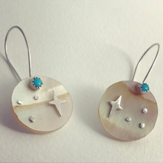Morning Star- Shell, Sterling Silver & Turquoise