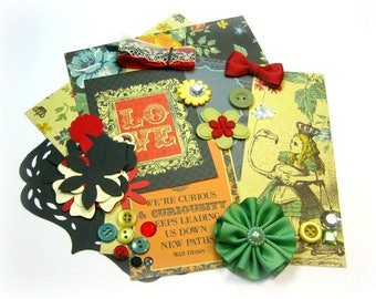 Kaisercraft The Looking Glass Inspiration Kit, Embellishment Kit, Junk Journal Kit for Scrapbook Layouts Cards Mini Albums Paper crafts 2