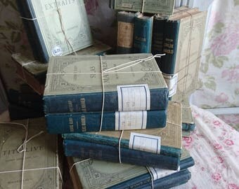 Gorgeous bundle antique French timeworn school books late 1800s and early 1900s HACHETTE and Cie PARIS