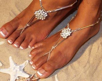 Barefoot Sandals-Barefoot Sandal-Beach Wedding Barefoot Sandal-Barefoot Sandal Wedding-Bridal Barefoot Sandal-The Starlight HF110