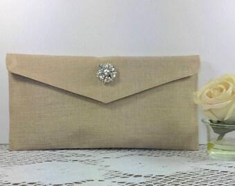 10 Bridesmaid Clutch, Wedding Party, Wedding Bags, Envelope Clutch, Bridesmaid Bags, Bridesmaid Gift, Bridal clutch, Rustic Wedding, Wedding