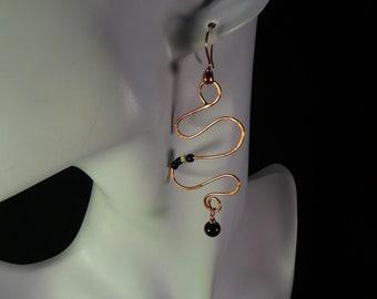 Copper Serpentine Earrings