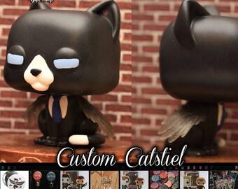 READY TO SHIP - Supernatural Catstiel - Custom Funko pop toy