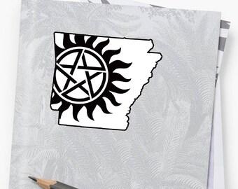 Vinyl Sticker - Arkansas Supernatural State