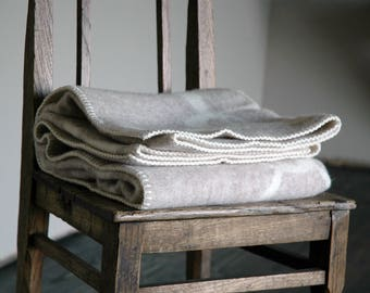 Wool blanket, thick wool blanket, child wool blanket, kid blanket, rabbit blanket