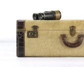 Valise Vintage grande valise vieille valise Tweed valise croco cuir gaufré valise bagages vieux bagages rétro valise