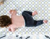 Crib sheet boy, MUSTACHE bedding, organic crib sheet, baby crib sheet, changing pad cover, baby boy bedding, baby boy nursery, baby sheets