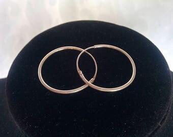 Sterling Silver Loop Earrings, Silver Hoop Earrings, Sterling Silver Earrings