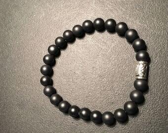 Men's Black Matte Bracelet