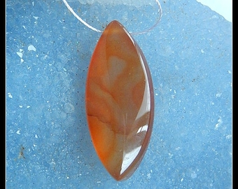 Natural Red Agate Focal Pendant Bead,35x15x8mm,6.6g(f0673)