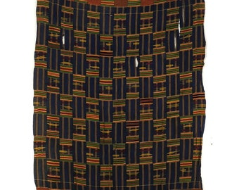 Kente Cloth Asante Handwoven Textile Ghana African Art 120219