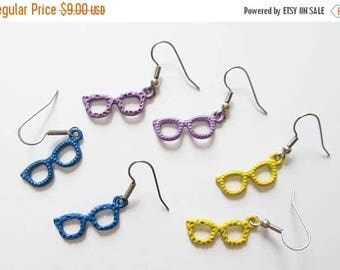 On Sale Colorful Sunglasses Earrings Purple Yellow Sunglasses Charm Earrings Summer Jewelry