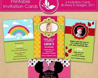 40% off Printable Girl Invitation Cards