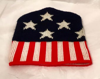 Red White and Blue Toboggan with Stars and Stripes