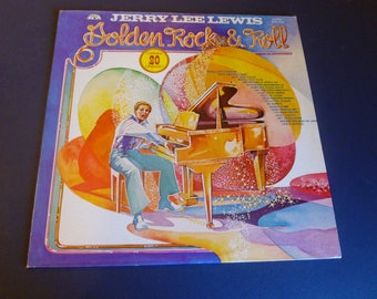 Jerry Lee Lewis Golden Rock & Roll Vinyl Record SUN-1000 Yellow Vinyl 1977