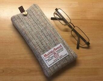 Harris Tweed glasses case, tweed specs case, reading glasses case, scottish gift